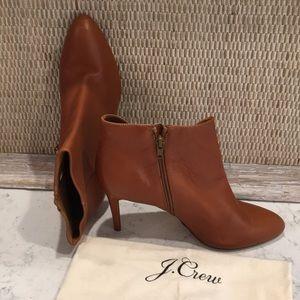 J.Crew Caramel Leather Booties